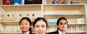 PLC year 8 students Jenny Kim and Julia Cummins are on their way to NASA space camp.