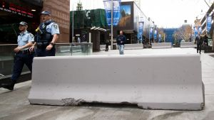 Concrete bollards have been installed in Sydney's Martin Place in response to security concerns.