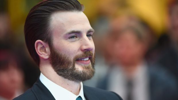 "Chris Evans arrives for the UK film premiere of ""Captain America: Civil War""."