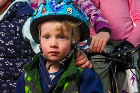 Children of the volunteer-run Majura Pines Trail Alliance ride their bikes at the recreation area. Evelyn Hill, 3, ...