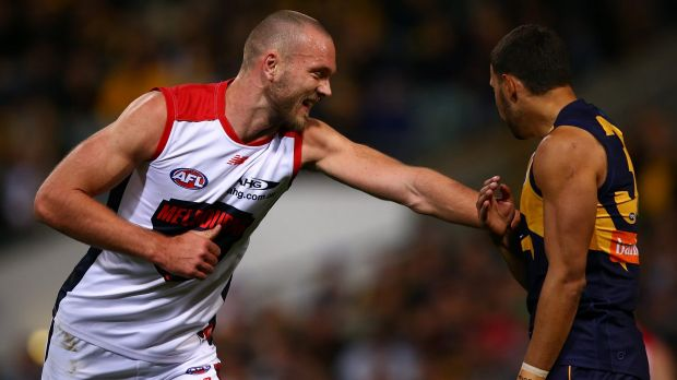 Demons ruckman Max Gawn was back, and made his presence felt.