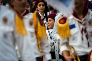 Joy after sorrow: The first public performance of the Australian Syrian Youth Marching Band was at Federation Square on ...