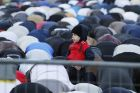 SYDNEY, AUSTRALIA - JUNE 25: Muslims pray at Lakemba Mosque during Eid al-Fitr on June 25, 2017 in Sydney, Australia. ...