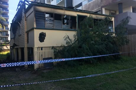 A home at Carl Street, Woolloongabba, was destroyed by fire on Sunday.