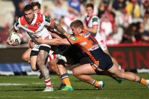 Star power: St George's NSW Origin representatives, including Josh Dugan (pictured), lifted the Dragons to overcome the ...