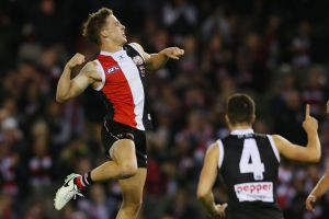 Stand-out performance: Young St Kilda forward Jack Billings.