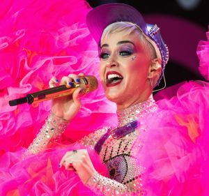 In signature Katy Perry fashion, the Witness signer wore a skin-coloured catsuit covered with thousands of crystals for ...