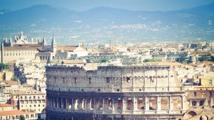 """Coliseum in Rome, the icon of the city,  square composition.More like this"""
