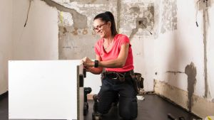 Carpenter and joiner Flavia Teixeira says women should be encouraged to take up a trade.