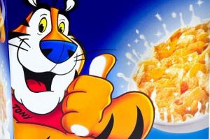 Tony the Tiger features on Kellogg's Frosties cereal.