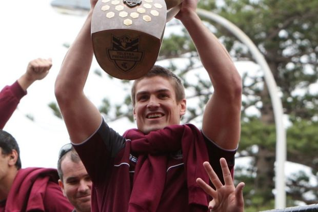 Up and down: Matt Ballin played more than 200 games for Manly, winning a Premiership along the way - before a ...