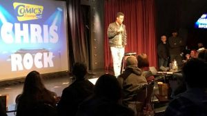 Comedian Chris Rock made a shock appearance at Melbourne's Comic's Lounge on Sunday.