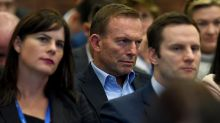 Former prime minister Tony Abbott watched on earlier this month as Prime Minister Malcolm Turnbull delivered an address ...