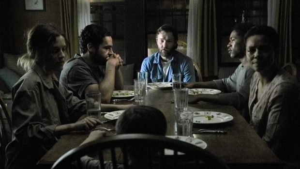Joel Edgerton as survivor Paul (centre) in a world of the unknown where deep fear has taken hold.