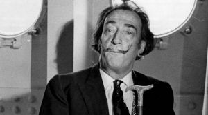 FILE - John Peter Moore, left, ex-personal secretary of Spanish surrealist painter Salvador Dali, is seen in this ...