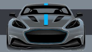 The Aston Martin RapidE, the British brand's first electric car, will enter production in 2019.