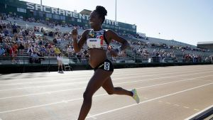 Wonder woman: Five months pregnant, Alysia Montano runs in the women's 800 Metres at the 2017 USA Track & Field ...