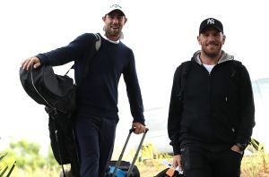 Glenn Maxwell (L), pictured here with Aaron Finch arriving during the Australian Cricketers' Association Golf Day, is ...