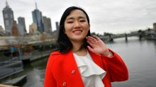 Eva Zhuang was born in Xinjiang but now calls Melbourne home. 'I like the weather,' she says.