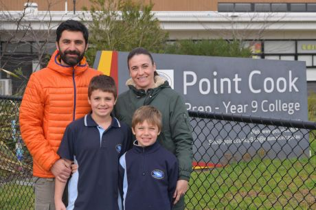 Raul Garcia and wife Cristina Fernandez, with their sons Diego and Ernesto, moved to Point Cook.