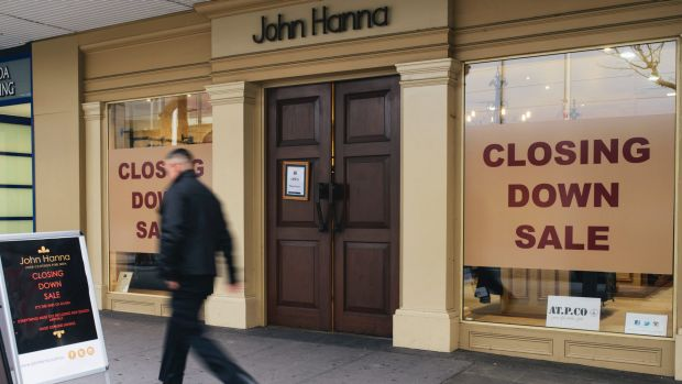 """Canberra Centre was """"just a paddock"""" when John Hanna opened in Civic in the early 90s."""