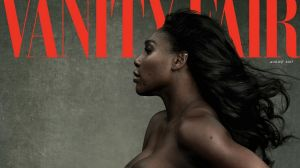Serena Williams on the cover of August's Vanity Fair.