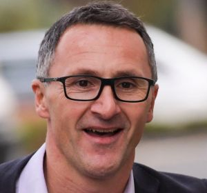 Greens leader Richard Di Natale arriving at the meeting to decide the fate of Senator Lee Rhiannon on Wednesday night.