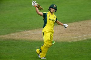 Ton: Nicole Bolton scored an unbeaten hundred against the West Indies.