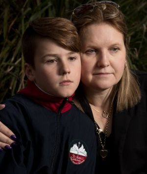 """""""This is emotional abuse"""": Natalie Wykes with her son, Kynan."""