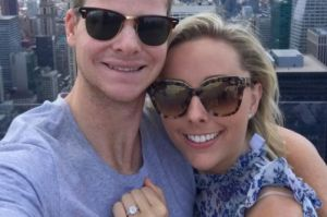 Cricketer Steve Smith and partner Dani Willis are engaged.