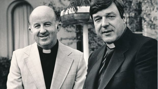 Father George Pell (right) was 46 when he was named as an assistant bishop for Melbourne.