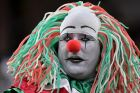 A fan of Mexico waits for the team's international friendly soccer match against Ghana, Wednesday, June 28, 2017, in ...
