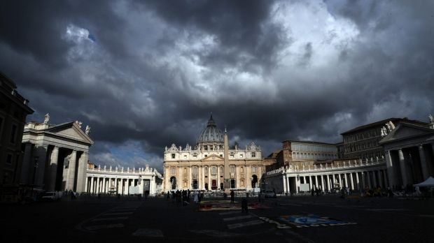 Clouds hang over the Vatican on Thursday, June 29. The Catholic Archdiocese of Sydney says Vatican Cardinal George Pell ...