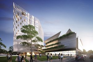 An artist's impression of new stadium and leagues club at Parramatta