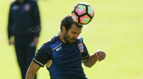 Newcastle Jets training at Ray Watt Oval, Callaghan. Picture shows Nikolai Topor-Stanley