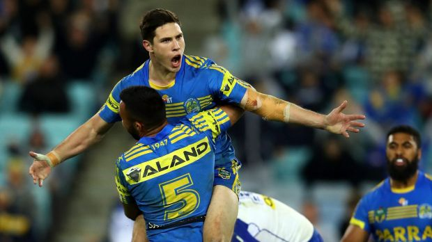 The return: Mitch Moses will face his former team in Wests Tigers for the first time since a mid-season switch to Parramatta.