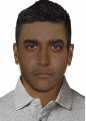 A composite image of the man police wish to speak to in relation to a sexual assault in Eltham.