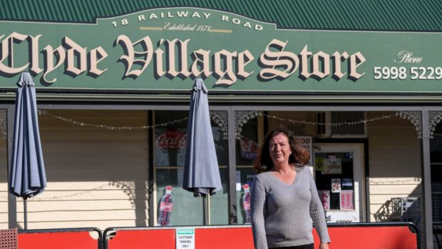 Tracey O'Brien, owner of the Clyde Village Store, fears the village's days as a bucolic oasis are numbered.