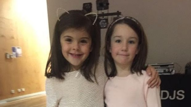 Kindgergarten buddies Sassi O'Brien (left) and Sylvie Redwin at their joint sixth birthday party where they asked their ...