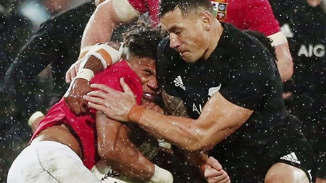 Sent off: Sonny Bill Williams was sent off in the second Test between the All blacks and the Lions.