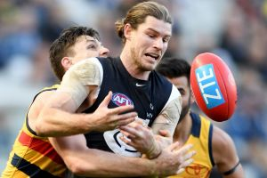 From tackled to teammate? Bryce Gibbs is a topic of conversation for the Crows and Blues.