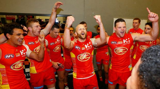 Gary Ablett sings the song with his Gold Coast Suns.