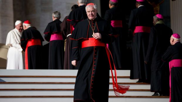 Ousted: Cardinal Gerhard Mueller, the head of the Vatican office that handles sex abuse cases.