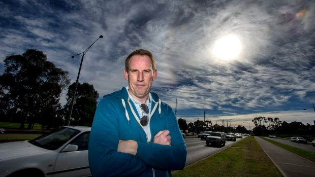Andrew Nicholls spends hours in traffic to get to work in Abbotsford.