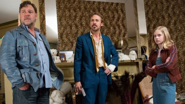 With Russell Crowe and Ryan Gosling in The Nice Guys.