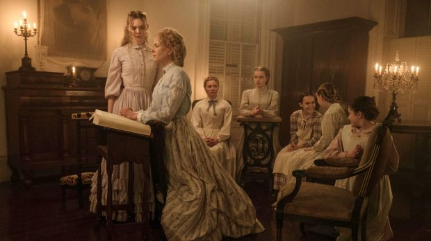 Sofia Coppola's The Beguiled stars (from left) Elle Fanning, Nicole Kidman, Kirsten Dunst, Angourie Rice, Oona Laurence, ...