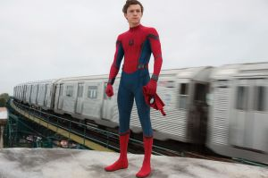 Making the best of learning his masked trade in his home borough of Queens is Peter Parker played by Tom Holland.
