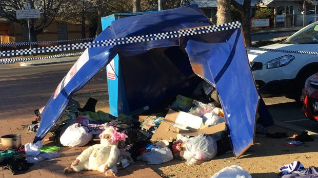 Lone Fathers Association of Australia president said he was happy no one was hurt, but was shattered at the loss of the bin.