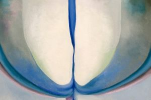 Georgia O'Keeffe was famous for the female sexuality of works such as 'Blue Line'.