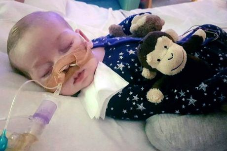 Charlie Gard at Great Ormond Street Hospital in London.